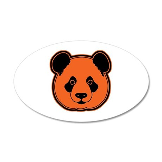 panda head 10 35x21 Oval Wall Decal