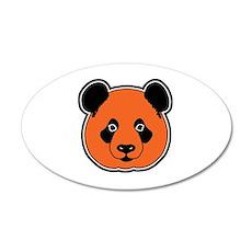 panda head 11 35x21 Oval Wall Decal