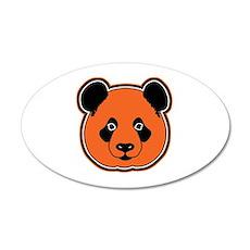 panda head 12 35x21 Oval Wall Decal