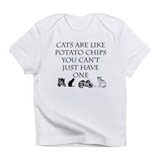 Cats are like potato chips Infant T-Shirt