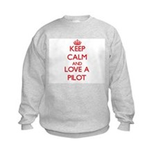 Keep Calm and Love a Pilot Sweatshirt