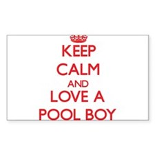 Keep Calm and Love a Pool Boy Decal