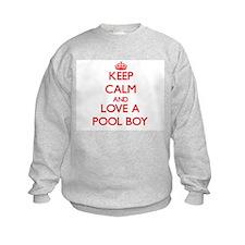 Keep Calm and Love a Pool Boy Sweatshirt