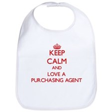 Keep Calm and Love a Purchasing Agent Bib