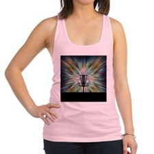 Disc Golf Basket Silhouette Racerback Tank Top