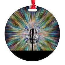 Disc Golf Basket Silhouette Ornament