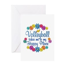 Volleyball Happy Place Greeting Card