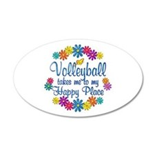 Volleyball Happy Place Wall Decal