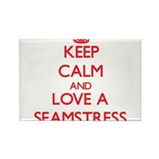 Keep Calm and Love a Seamstress Magnets