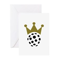 Floorball champion crown Greeting Card
