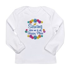 Sewing Happy Place Long Sleeve Infant T-Shirt