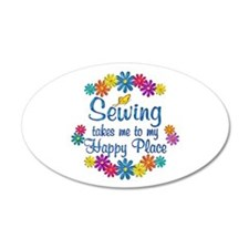 Sewing Happy Place Wall Decal