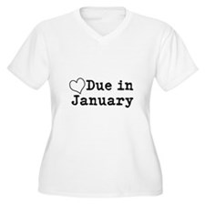 Due In January Plus Size T-Shirt