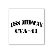 "USS MIDWAY Square Sticker 3"" x 3"""