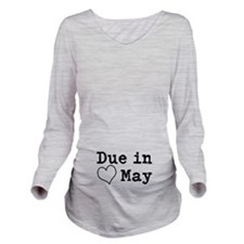 Due In May Long Sleeve Maternity T-Shirt