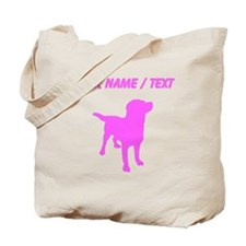 Custom Pink Labrador Retriever Silhouette Tote Bag
