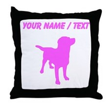 Custom Pink Labrador Retriever Silhouette Throw Pi