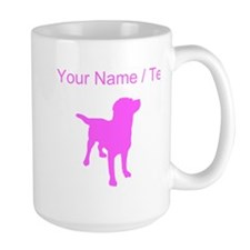 Custom Pink Labrador Retriever Silhouette Mugs