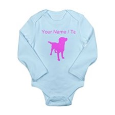 Custom Pink Labrador Retriever Silhouette Body Sui