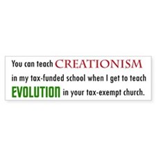 Creationism Bumper Bumper Sticker
