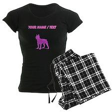 Custom Pink Boston Terrier Silhouette Pajamas