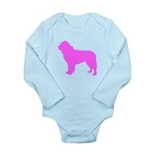 Pink Newfoundland Silhouette Body Suit