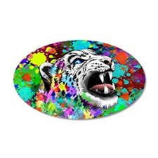 Leopard Psychedelic Paint Splats Wall Decal