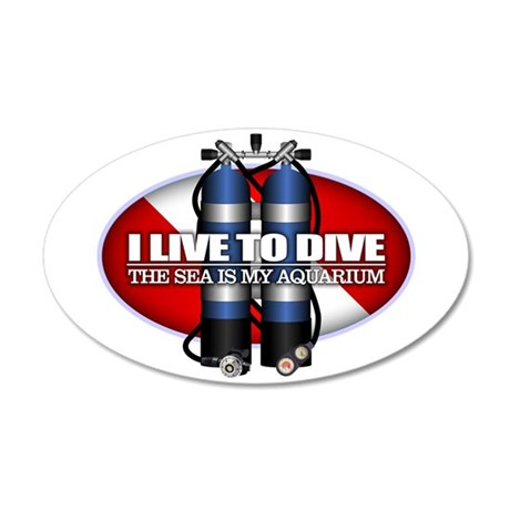 Live To Dive (ST) Wall Decal