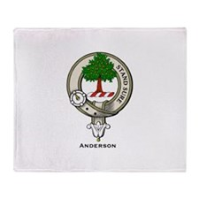 Anderson Clan Badge Throw Blanket