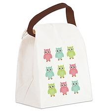 owls Canvas Lunch Bag