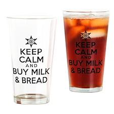 Keep Calm Milk Bread Drinking Glass
