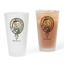 MacDonald Clan Badge Drinking Glass