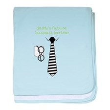 Daddy's Future Business Partner baby blanket