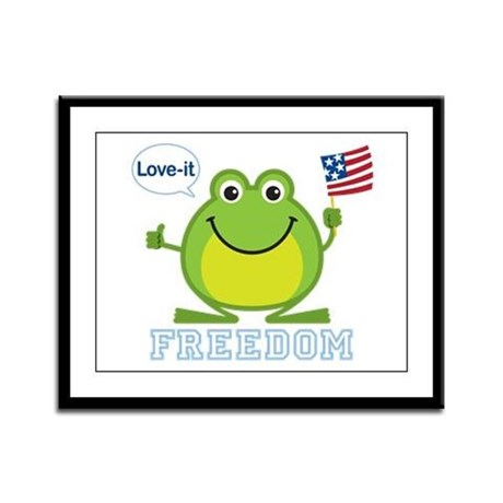 Freedom Frog: Framed Panel Print