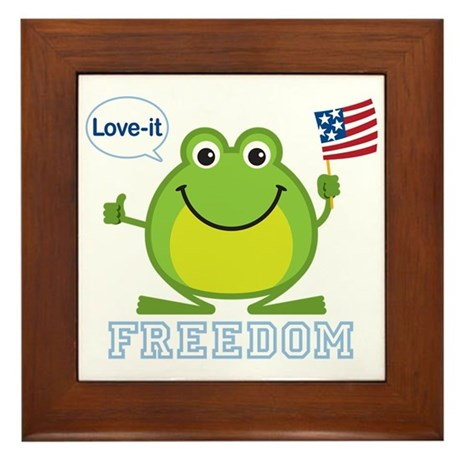 Freedom Frog: Framed Tile