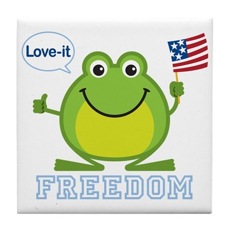 Freedom Frog: Tile Coaster