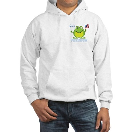 Freedom Frog: Hooded Sweatshirt
