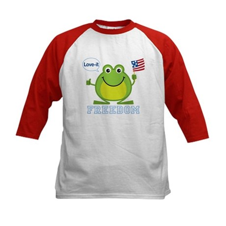 Freedom Frog: Kids Baseball Jersey