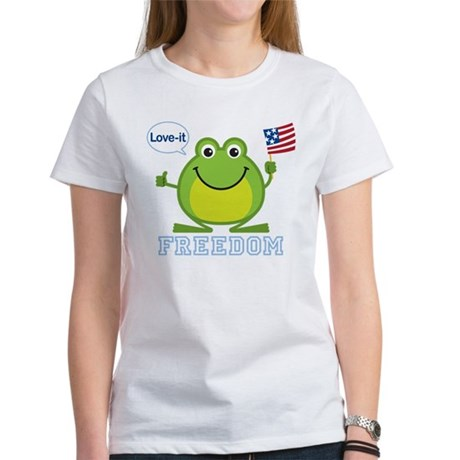 Freedom Frog: Women's T-Shirt