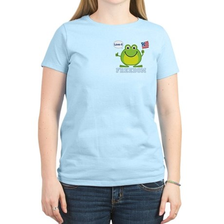 Freedom Frog: Women's Light T-Shirt