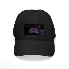 Black Cat Peeking Baseball Hat