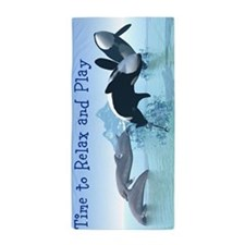 Dolphins and Orca's Beach Towel
