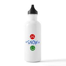 Plus Snow Equals Happy Water Bottle