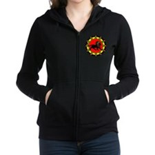 Jah King Rasta Lion Women's Zip Hoodie