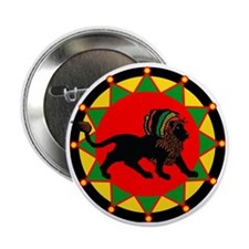 "Jah King Rasta Lion 2.25"" Button"