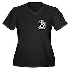 Baldwin Women's Plus Size V-Neck Dark T-Shirt