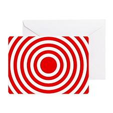 Red Bullseye Greeting Card
