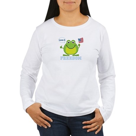 Freedom Frog: Women's Long Sleeve T-Shirt