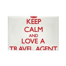 Keep Calm and Love a Travel Agent Magnets