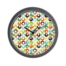 Retro Mod Abstract Circles Wall Clock